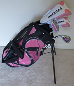 Girls' Junior Golf Club Set with Stand Bag (Pink) LH Premium