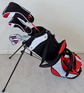Junior Golf Club Set with Stand Bag (Red) Professional Tour Jr.
