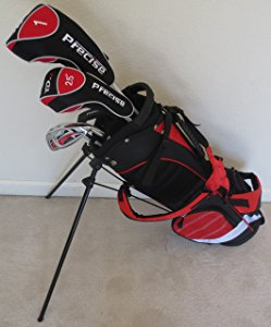 Junior Golf Club Set With Stand Bag (Red) Premium Jr.