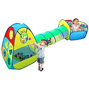 Viciviya 3-in-1 Kids Play Tent with Tunnel and Ball Pit  sc 1 st  BestForTheKids & Best Play Tunnels for Kids to Enjoy Endless Afternoons of Fun and Games
