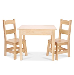 Melissa U0026 Doug Solid Wood Table U0026 Chair Set