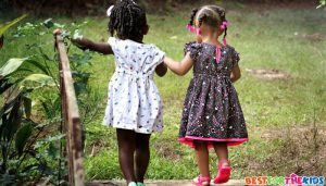 kids engaging with nature