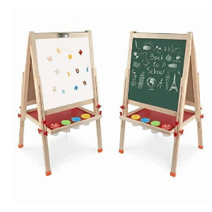Arkmiido Kids Easel Double-Sided Whiteboard & Chalkboard Standing Easel