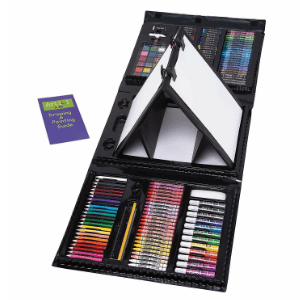 Art 101 Kids 179-Piece Double Sided Trifold Easel Art Set