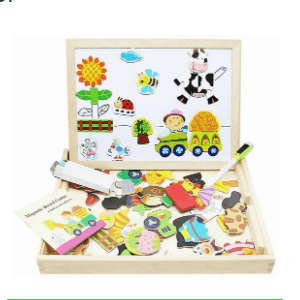 Lewo Wooden Kids Educational Toys Magnetic Easel