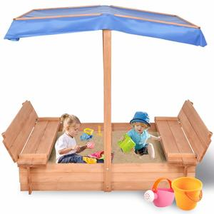 Costzon Kids Foldable Cabana Sandbox