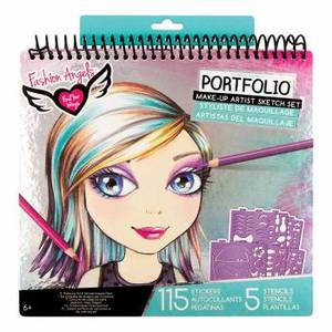 Fashion Angels Make-Up and Hair Design Sketch Portfolio