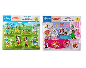 Melissa and Doug Disney Minnie Mouse Chunky Puzzle Set