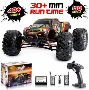 1 10 Scale Large RC Car, 4x4 Off Road Monster Truck Electric