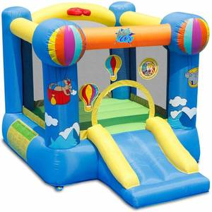 ACTION AIR Bounce House, Inflatable Bouncer with Air Blowers Jumping Castle