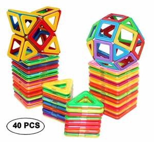 Dream Builder Toy Magnetic Tiles 40 pc set