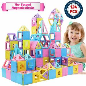 HOMOFY 124 PCS Castle Magnetic Blocks