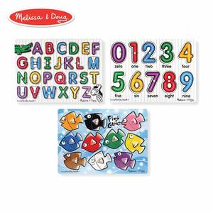 Melissa and Doug Classic Wooden Peg Puzzles