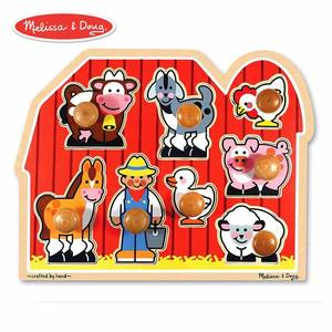 Melissa and Doug Large Farm Jumbo Knob Puzzle