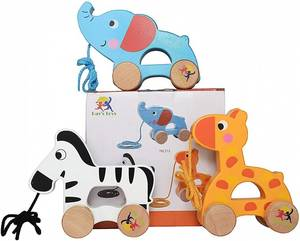 Wooden Pull Along Toy Set of 3 Pull Along Toy